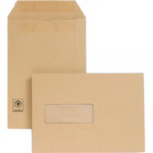 New Guardian Envelopes Heavyweight Pocket Press Seal Window Manilla C5 [Pack 250]