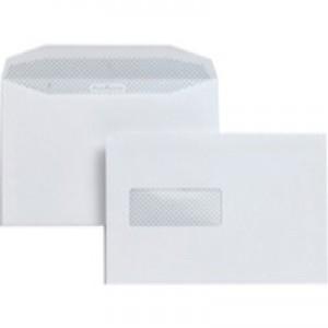 Postmaster Envelopes Wallet Gummed with High Window 90gsm White C5 [Pack 500]