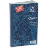Image for Challenge Duplicate Book Carbonless Order 100 Sets 210x130mm Ref 100080400 [Pack 5]