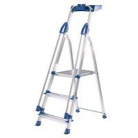 Abru Blue Seal 3 Tread Professional Aluminium Step Ladder 10503