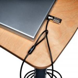 Kensington ClickSafe Combination Laptop Lock 4-Wheel Cable 1500mm Ref K64697EU