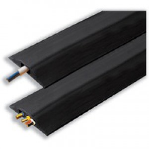Accodata Double Cable Channel Black 10x30mm 1.5 Metres 59101