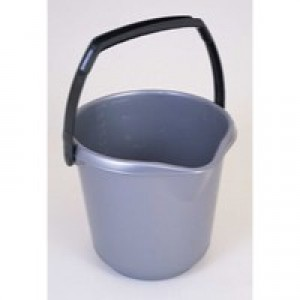 Addis 10 Litre Plastic Bucket Metallic 9642