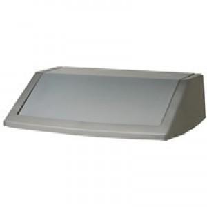 Addis 54 Litre Flip Top Bin Lid Metallic Grey 504895