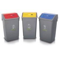 Addis Recycling Bin Kit Bases Metallic Pack of 3 505574