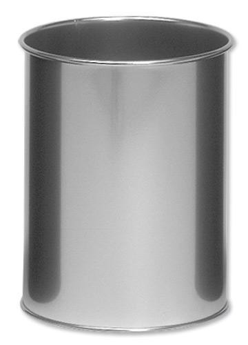 Durable 14.7 Litre Metal Bin Silver A2910518