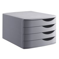 Smead 4 Drawer Desktop Set Grey A6862-541