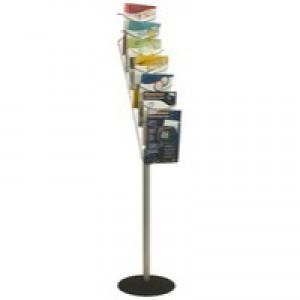 Alba Floor-Standing 7-Pocket Literature/Magazine Display DD7S