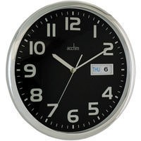 Image for Acctim Chrome/Black Wall Clock
