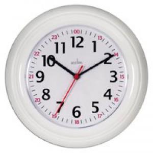 Acctim Wexham 24 Hour Wall Clock White 21862