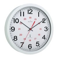 Acctim Controller RC Wall Clock White 74172