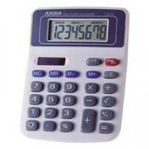 Aurora Desktop Calculator 8-digit DT210