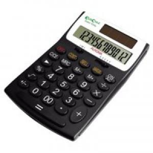 Aurora EcoCalc Desktop Calculator 12-digit Black EC505