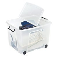Strata Smart Box 75 Litre on Wheels Clear HW676-CLR