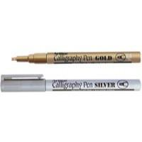 Artline Calligraphy Marker Gold/Silver Pack of 6 EK-993-W6