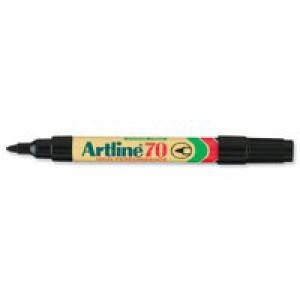 Artline 70 Marker Bullet Tip Black A701