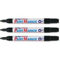 Artline 400 Paint Marker Medium Bullet Tip Black A4001