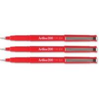 Artline 200 Pen 0.4mm Tip Red A2002