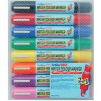 Artline 2-in-1 Flipchart Marker Assorted Pack of 8 EK-325T-W8