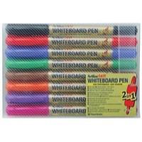Artline 2-in-1 Whiteboard Marker Fine/Superfine Assorted Pk 8 EK-541T-WB