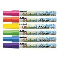 Artline Glass Markers Assorted Pk6 EPG-4W6ASS