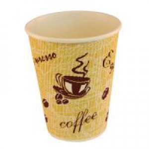 4Aces Ripple Red Bean 12oz Paper Cup (Pack of 500) AS55441