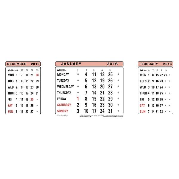 At-a-Glance Calendar Refill 2014 3SR
