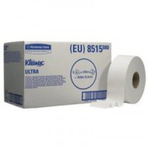Kleenex Ultra Midi Jumbo Toilet Roll 2-Ply 250 Metre Pack of 6 8515