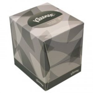 Kleenex Facial Tissues Cube 1-Fold 2-Ply White 90 Sheets 8834