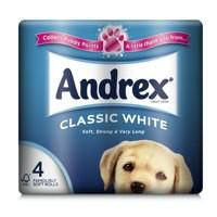 Andrex Toilet Roll White Pack of 4 KKCATW4