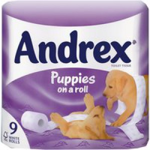 Andrex Pups Bathroom Tissue White 4978748