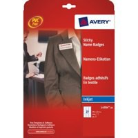 Avery Self Adhesive Name Badge 10TV White/Red Border L4786-20