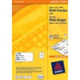 Avery Multi-Purpose Label 70x36mm 24TV per Sheet White Pack of 40 Sheets 3662