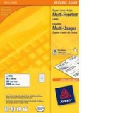 Avery Multi-Purpose Label 8TV White Pack of 40 Sheets 3664