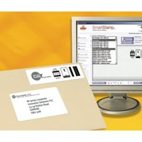 Image for Avery Inkjet Smart Stamp Online Postage Label Bulk 69x38mm Pack of 25 Sheets White J5101-25