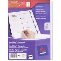 Avery Index Maker Divider A4 10-Part White Unpunched 01816061 (FPC)