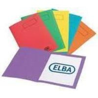 Elba Bright Square Cut Folder Foolscap Assorted Pack of 25 100090142