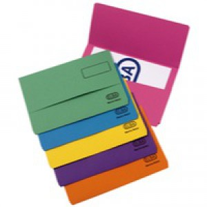 Elba Bright Manilla Document Wallet 290gsm Foolscap Assorted Pack of 25 100090138