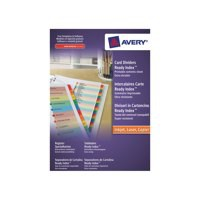 Avery Punched Index Assorted 1-5 A4 Pack of 10 01733501 (FPC)