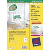 Avery Removable Cling Sign 190x135mm Pack of 10 L7079-10