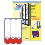 Avery Premium 2-in-1 Filing Label White/Red Pack of 20 L4701-20