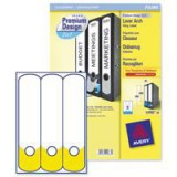 Avery Premium 2-in-1 Filing Label White/Yellow Pack of 20 L4703-20