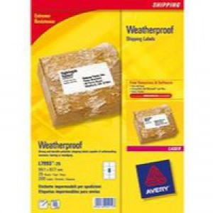Avery Weatherproof Shipping Label 99.1x67.7mm Pack of 25 L7993-25