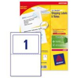 Avery Blockout Shipping Label 176x126mm Pack of 100 L7980-100