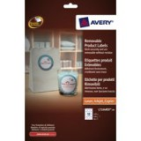Avery Product Labels Removable 12 per Sheet 60mm Diameter White Circular Ref L7104REV-20.UK [240 labels]