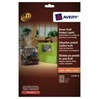 Avery Rectangular Product Label Brown Kraft L7110-20