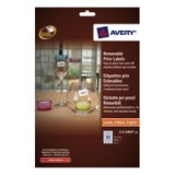 Avery Removable Pricing Label 26x16mm White L7115REV-20
