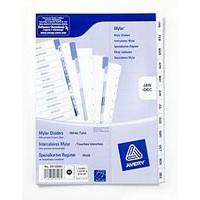 Avery Mylar Alpha Divider Bright White January-December A4 05138061 (FPC)
