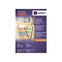 Avery Ready Index A4 Mylar January-December 02002501