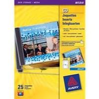 Avery CD Insert Matt Inkjet White Pack of 25 Sheets J8435-25